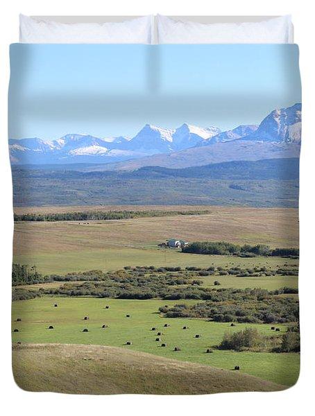 Duvet Cover featuring the photograph Chief Mountain by Ann E Robson