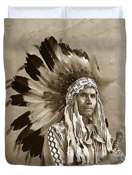 Chief Red Eagle Carmel California Circa 1940 Duvet Cover