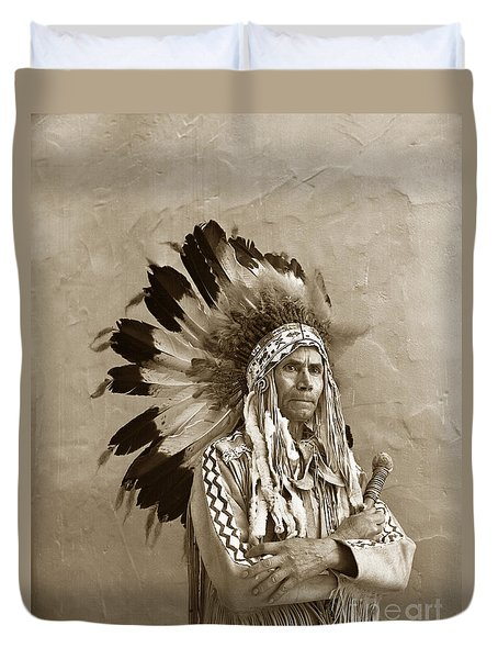 Chief Red Eagle Carmel California Circa 1940 Duvet Cover