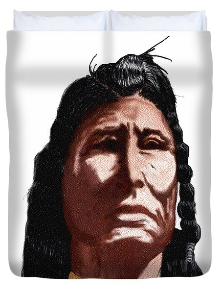 Chief Duvet Cover by Terry Frederick