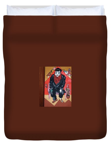Duvet Cover featuring the painting Chigall By Nora by Nora Shepley