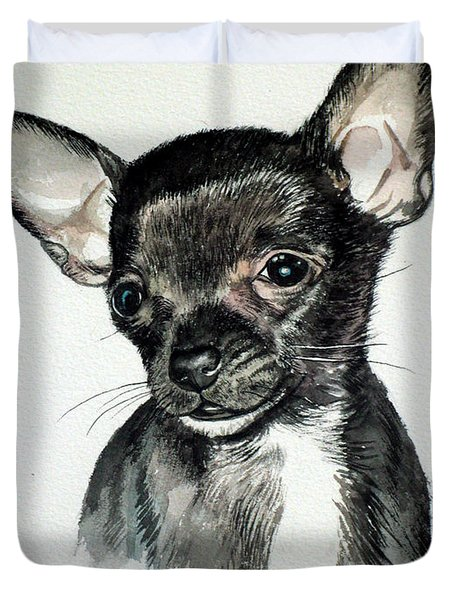 Chihuahua Black 2 Duvet Cover