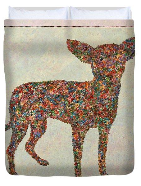 Chihuahua-shape Duvet Cover by James W Johnson