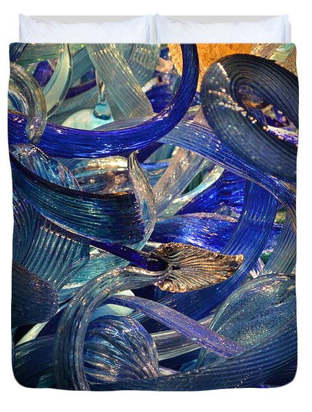 Chihuly-2 Duvet Cover by Dean Ferreira