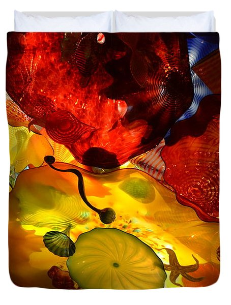 Chihuly-5 Duvet Cover by Dean Ferreira