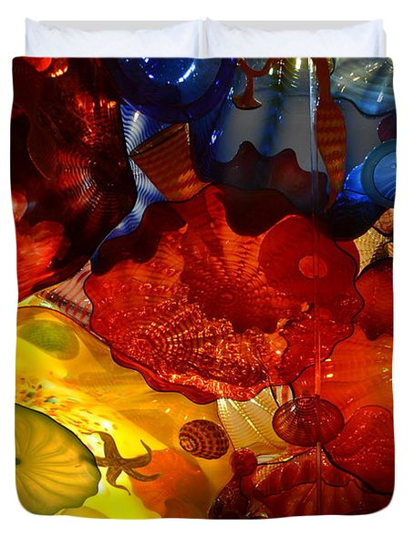 Chihuly-6 Duvet Cover by Dean Ferreira
