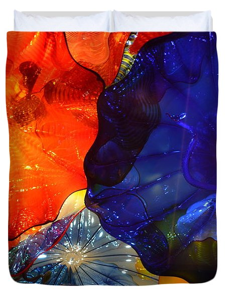 Chihuly-7 Duvet Cover by Dean Ferreira