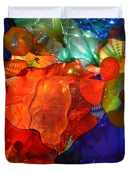 Chihuly-8 Duvet Cover by Dean Ferreira