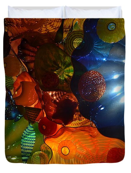 Chihuly-9 Duvet Cover by Dean Ferreira