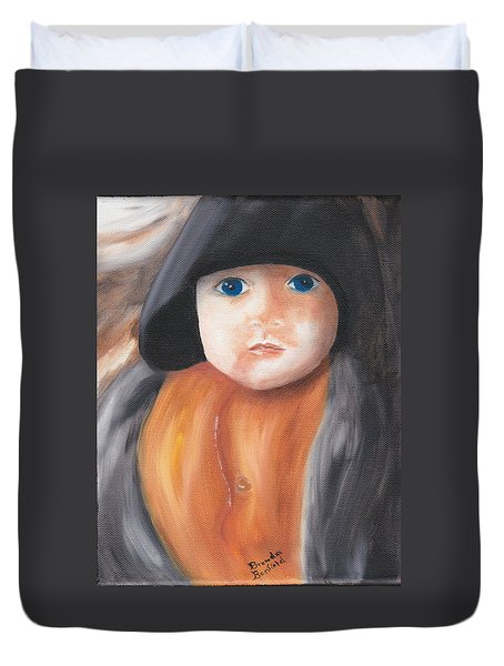 Child With Hood Duvet Cover