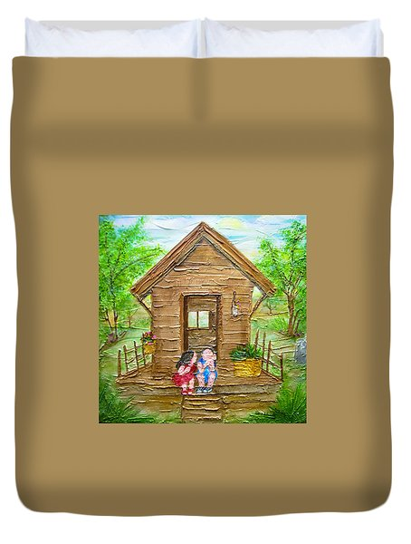 Childhood Retreat Duvet Cover by Jan Wendt