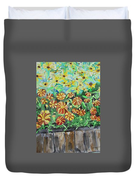 Childlike Flowers Duvet Cover