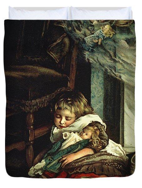 Children Dreaming Of Toys Duvet Cover