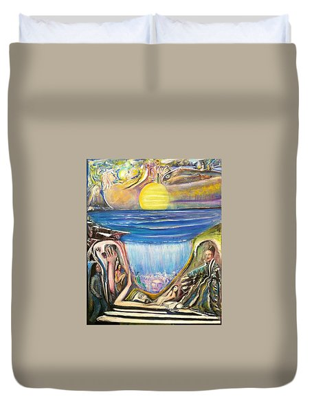 Children Of The Sun Duvet Cover by Kicking Bear  Productions