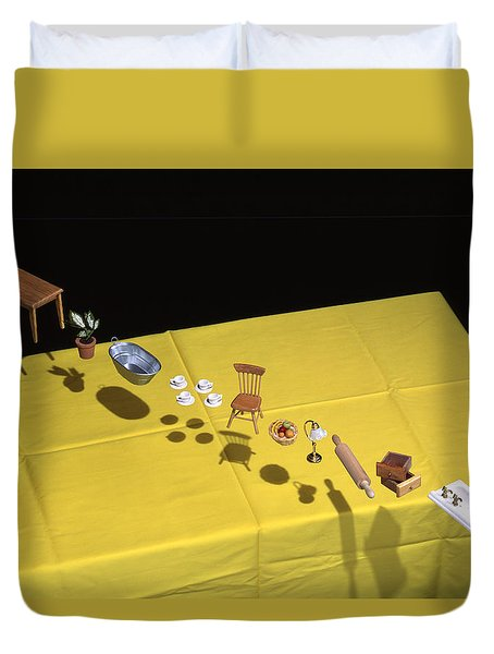 Child's Play Duvet Cover by Daniel Furon