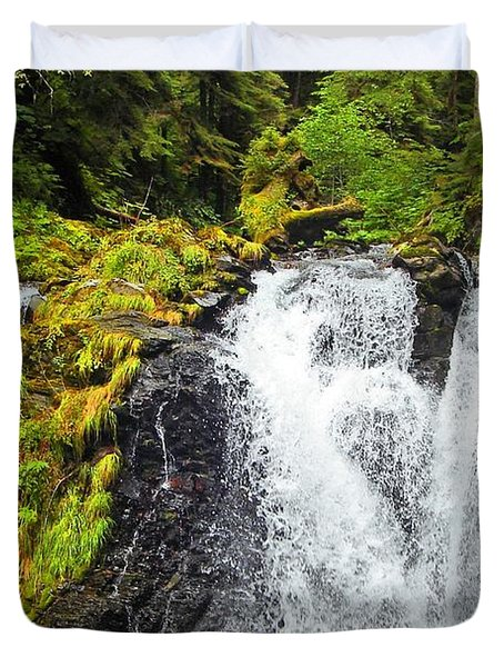 Chilkoot Falls Duvet Cover