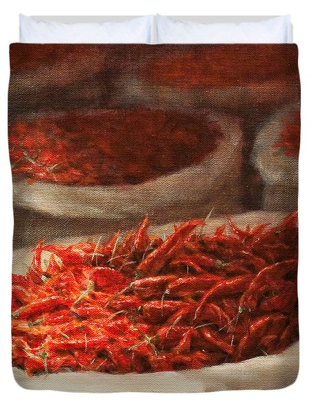 Chillis 2010 Duvet Cover by Lincoln Seligman