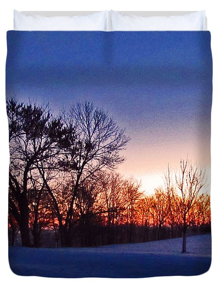 Chilly Beautiful Sunrise Duvet Cover by Minding My  Visions by Adri and Ray