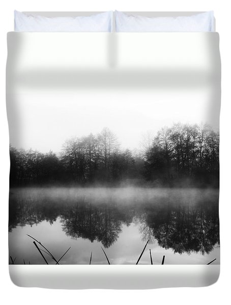 Chilly Morning Reflections Duvet Cover