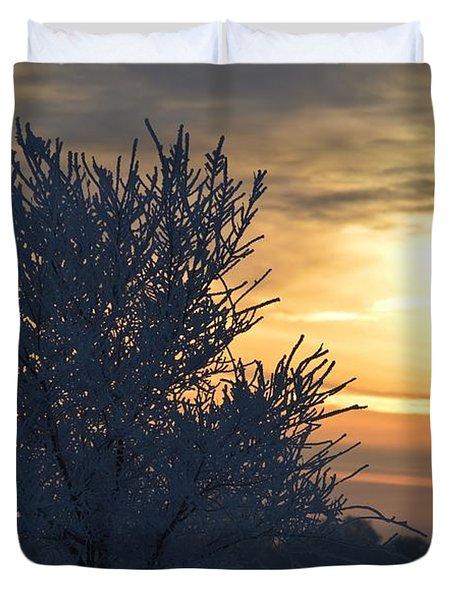 Chilly Sunrise Duvet Cover