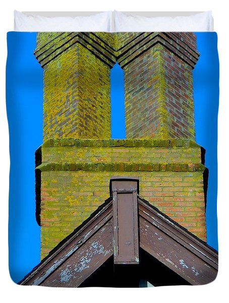 Chimney Abstract Duvet Cover by Ed Weidman