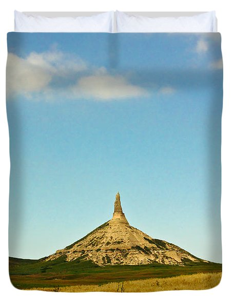 Chimney Rock Nebraska Duvet Cover
