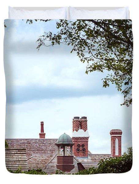 Chimneys Duvet Cover by John M Bailey