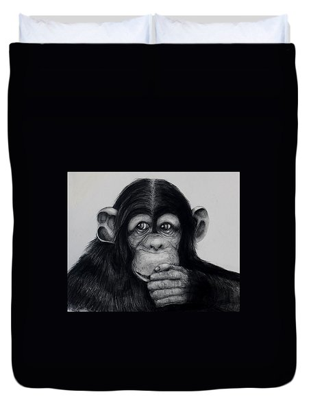 Chimp Duvet Cover by Jean Cormier