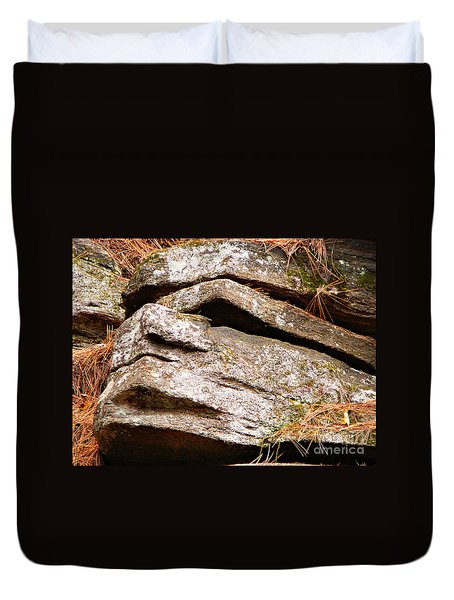 Chin Up Duvet Cover by Chris Sotiriadis