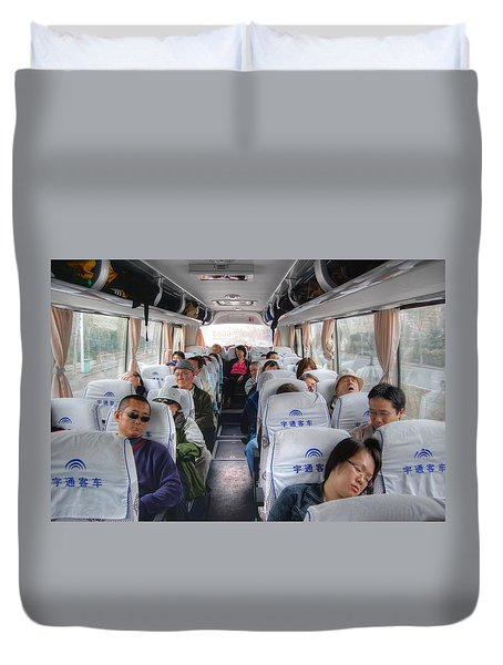 China Bus Ride  Duvet Cover