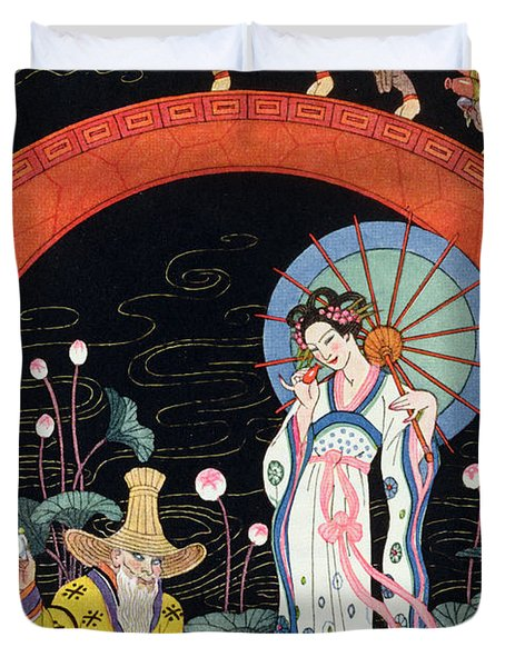 China Duvet Cover by Georges Barbier