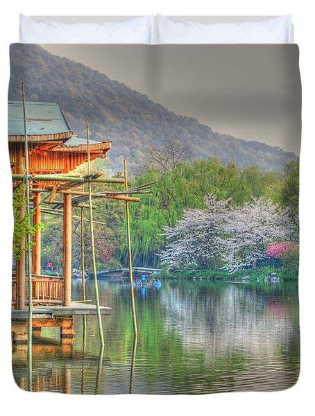 China Lake House Duvet Cover