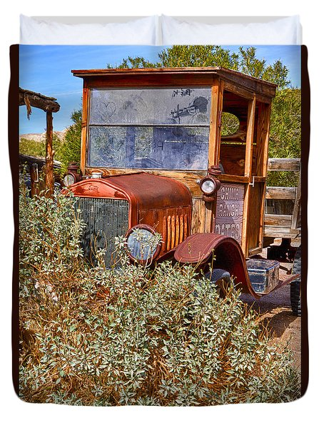 Duvet Cover featuring the photograph China Ranch Truck by Jerry Fornarotto