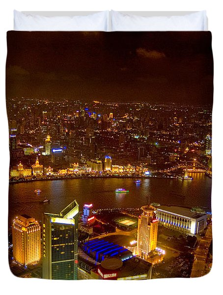 China Shanghai At Night  Duvet Cover