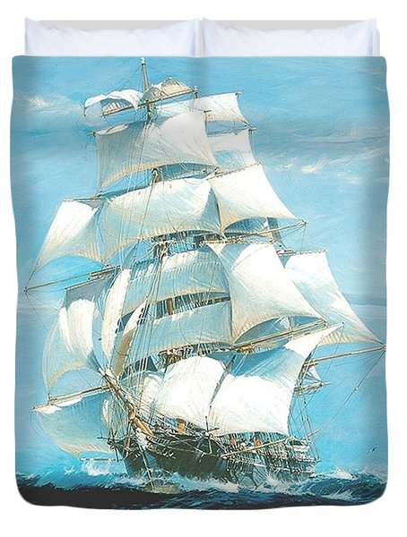 China Tea Clippers Race Duvet Cover