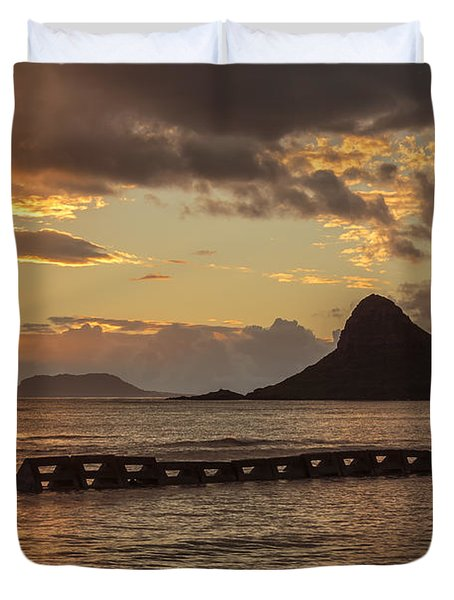 Chinaman's Hat 5 Duvet Cover by Leigh Anne Meeks