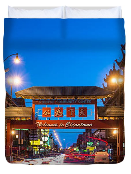 Chinatown Chicago Duvet Cover