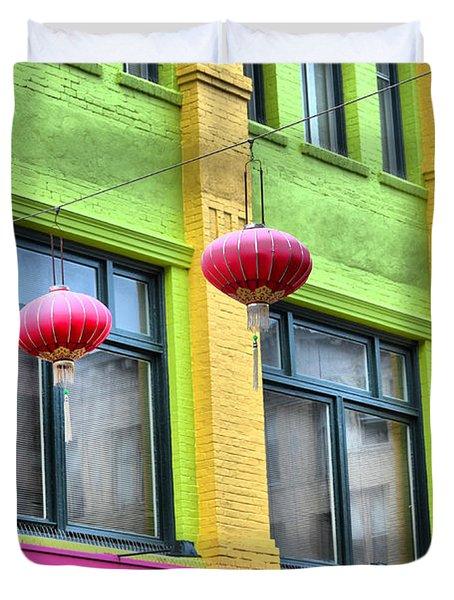 Chinatown Colors Duvet Cover