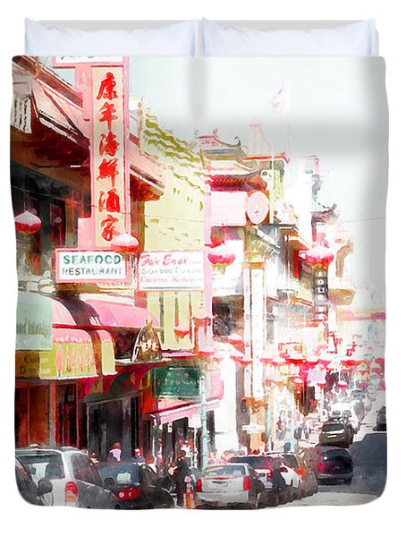 Chinatown Gate On Grant Avenue In San Francisco 7d7175wcstyle Duvet Cover