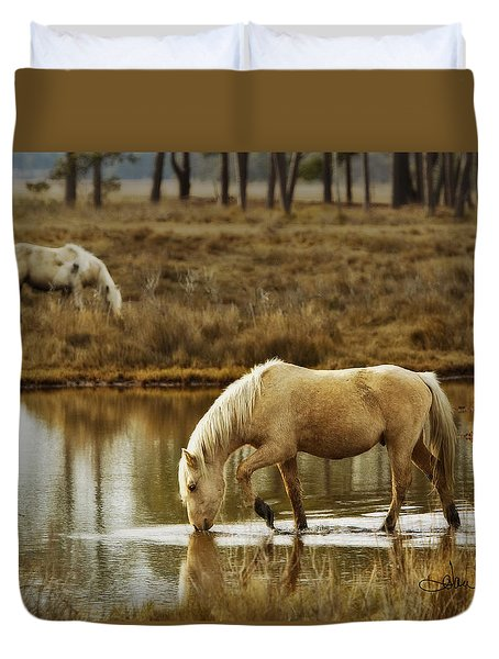 Chincoteague Gold Duvet Cover