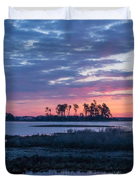 Chincoteague Wildlife Refuge Dawn Duvet Cover by Photographic Arts And Design Studio