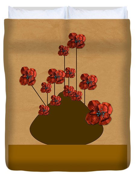 Duvet Cover featuring the photograph Japanese Bonsai Flowers by Tina M Wenger