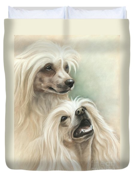 Chinese Crested Duvet Cover by Tobiasz Stefaniak