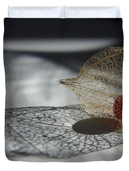 Chinese Lantern Plant - B Duvet Cover