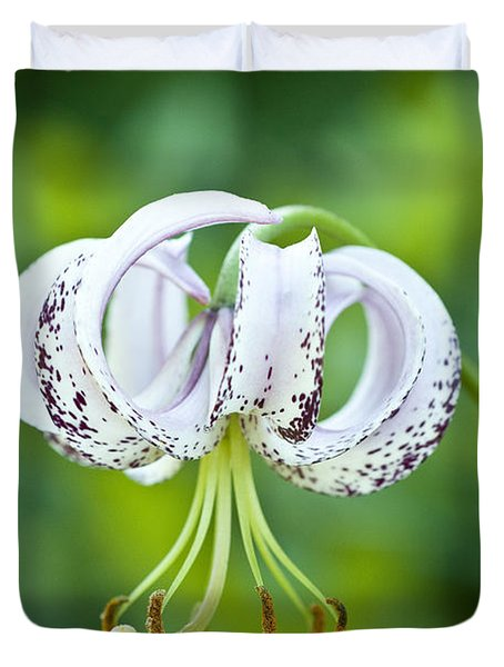 Duvet Cover featuring the photograph Chinese Lily by Lana Enderle