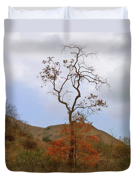 Chino Hills Tree Duvet Cover by Ben and Raisa Gertsberg
