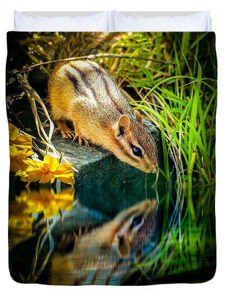 Chipmunk Reflection Duvet Cover