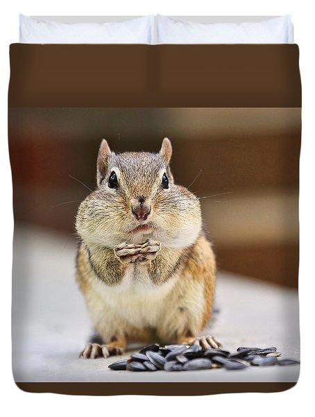 Chipmunk With Full Cheeks Duvet Cover