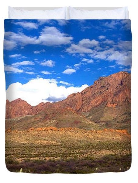 Chisos Mountains, Big Bend, Texas Duvet Cover