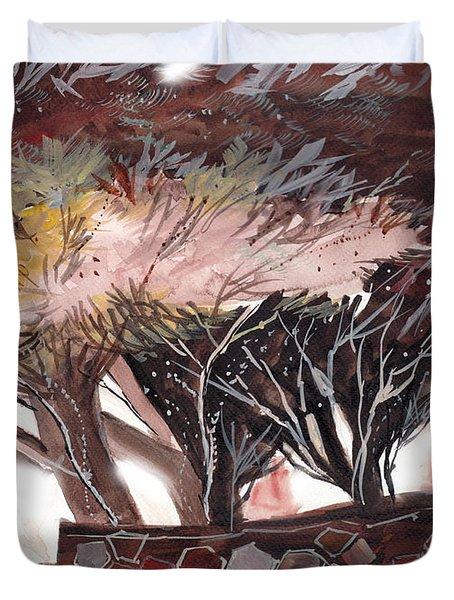 Chocolate Duvet Cover by Anil Nene